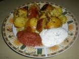 Картошка запеченная в духовке с двумя соусами