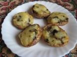 Картошка запеченная в духовке с грибами