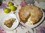 Кокосовый пирог с яблоками на творожном тесте