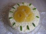 """Кокосовый торт """"Пина-колада"""" с ананасами"""