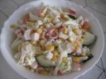 Крабовый салат с пекинской капустой и огурцом рецепт