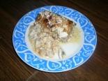 Крученики из свинины с капустой и грибной подливкой (мясные рулетики)
