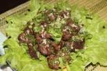 Куриная печень с луком: теплый салат, рецепт с фото