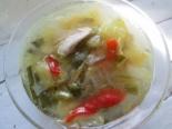 Куриный суп с кабачками и капустой