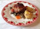 Курица с картошкой и брокколи в духовке