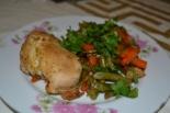 Курица с овощами в духовке в фольге
