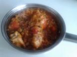Курица тушеная с фасолью и овощами