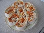 Лаваш с печенью трески и морковью