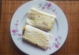 Лаваш со шпинатом и сыром на завтрак