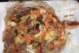 Мясо в соевом соусе с овощами запеченное в духовке в рукаве