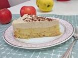 Муссовый торт с яблоками и карамельным муссом