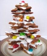 """Новогодний торт """"Елка"""" из имбирного печенья"""