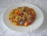Овощное рагу с фаршем, кабачками и баклажанами