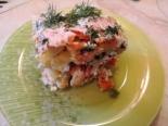 Овощной салат с яйцами слоями