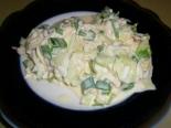 ПП салат из редиса с яйцом и со сметаной