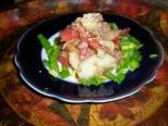 ПП салат с тунцом, огурцом и помидорами