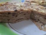 Печеночный торт с молоком и майонезом