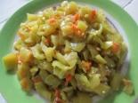 Перец тушеный с морковью и луком
