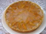 Песочный пирог с абрикосами и желе