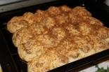 Пирог из готового слоеного теста с печеночным паштетом и сыром