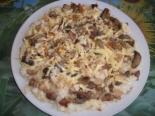 Пирог на кефире с курицей, грибами и сыром в духовке