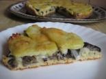 Пирог с картошкой и грибами на кефире на скорую руку
