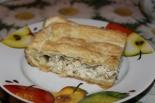Пирог с курицей из готового слоеного теста