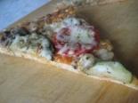 Пицца с кабачками и грибами на кефире