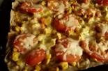 Пицца с курицей и кукурузой без дрожжей