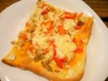 Пицца с курицей и помидорами. Тесто дрожжевое