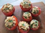 Помидоры фаршированные яйцом и сыром