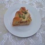 Пирог с капустой и колбасой на кефире в духовке
