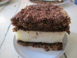 Простой бисквитный торт с манным кремом