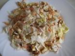 Простой и быстрый салат с капустой и омлетом без майонеза