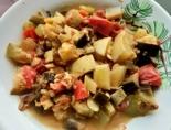Рагу с баклажанами и кабачками в духовке