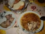 Рассольник с курицей и с рисом