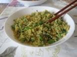 Рис с брокколи и яйцом