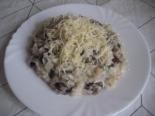 Ризотто с грибами и сыром без вина