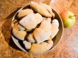 Рогалики с яблоками и корицей на сухих дрожжах