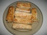 Рулетики из лаваша с колбасой и сыром