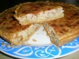 Рыбный пирог на песочном тесте с консервированной рыбой (сардиной)