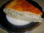 Дрожжевой рыбный пирог с луком (с хеком)