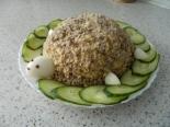 """Салат """"Черепаха"""" с яблоками и курицей"""