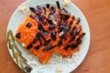 """Салат """"Ежик"""" с корейской морковью и курицей"""