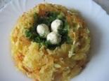 """Салат """"Гнездо глухаря"""": пошаговый классический рецепт с фото"""
