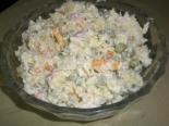 Салат из капусты и ветчины с сырным соусом