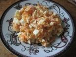 Салат из моркови с сыром и яйцом
