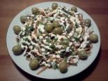 Салат из морской капусты и копченой горбуши