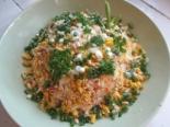 Салат из свежей капусты с колбасой и плавленым сыром