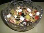 Салат с булгуром, брынзой и овощами